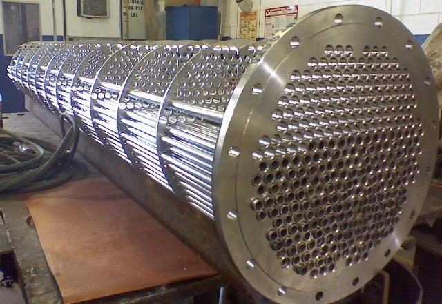 ساخت مبدل حرارتی پوسته و لوله صنعتی