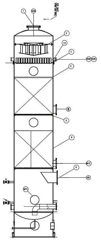 طراحی و ساخت برج جذب